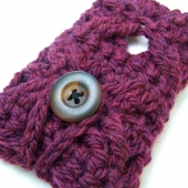 plum wool ipod iphone case cozy