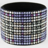 Hancoli Purple Plaid Swarovski Cuff