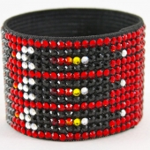 Hancoli Red Indian Swarovski Cuff