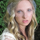 thin veil with Swarovski crystals