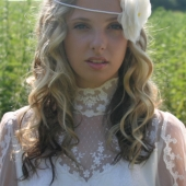 silk organza flower halo