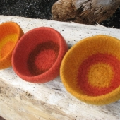 felted wool ring bowl