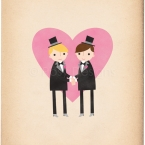 Two Grooms Wedding 8x10 Print