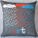 It is Raining Art cushion cover
