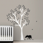Fawn Tree Wall Decal