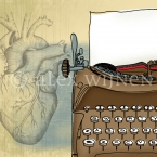 From the Heart – 8x10 matted illustration by Alex Wijnen