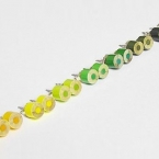 color pencil ear studs, the yellow and green series (1 pair)