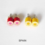 color pencil ear studs, World Cup Special Edition-spain