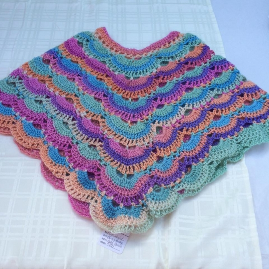 Crocheted Pastel Child S Virus Poncho Cargoh