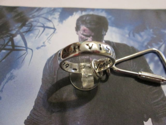 Uncharted Nathan Drake Ring Keychain Made Sterling Silver