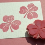 Clover Rubber Stamp Hand Carved