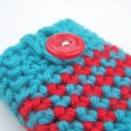 turquoise and red ipod case