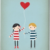 Love is in the Air (couple version) 8x10 print