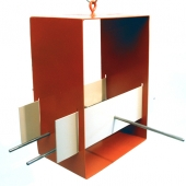 Cubist Bird feeder - Orange