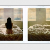 nude,figure,back,window,bed,diptych,polaroid,type 79,fine art photography