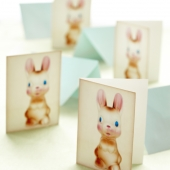paper easter card bunny