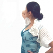 pdf pattern bridal shrug bolero by Faima