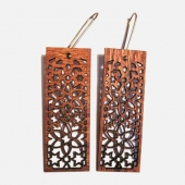 mosaic-rectangle dangle earrings