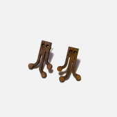 octopi wood stud earrings