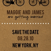 Eco Bicycle Theme Save the Date Photo 1