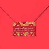 Set of 48 Sophisticated Floral 2X3 inch Adrdress Labels - Personalize