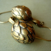 Wee Vintage Artichoke Earrings