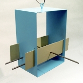 Cubist Bird feeder - Aqua