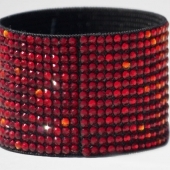 Hancoli Light Siam, Siam and Fire Opal Swarovski Cuff