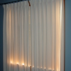 Pleated hemp/tencel curtains by nikkidesigns