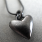 black as my heart pendant