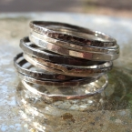 Antiqued Silver Stacking Rings
