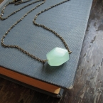 seafoam sea glass pendant necklace for women